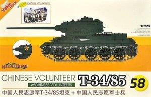 Cyber Hobby 9158 Chinese Volunteer T-34/85 w/Chinese Volunteers 1/35