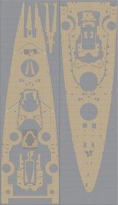 Pontos 35013WD1 DKM Bismarck Wooden Deck set (1:350)