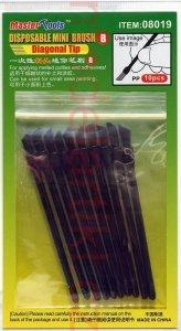 Trumpeter 08019 Disposable Mini Diagonal Brush (10 pcs)