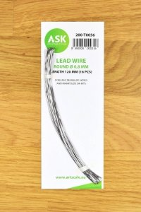 ASK T0056 Lead Wire - Round Ø 0,8 mm x 120 mm (16 pcs)