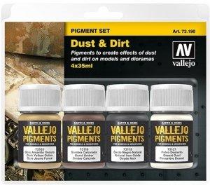 Vallejo 73190 Pigment Set Dust & Dirt 4x35ml