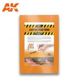 AK Interactive AK 8092 CARVING FOAM 10MM A5 SIZE (pianka do rzeźbienia)
