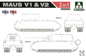 Takom 2050X Maus V1 & V2 (2 in 1) Limited edition 1/35