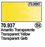Vallejo 70937 Transparent Yellow (184)