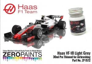 Zero Paints ZP-1575 Haas VF-18 Light Grey Paint 30ml