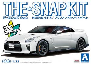 Aoshima 05639 The Snap Kit Nissan GT-R Brilliant White Pearl 1/32