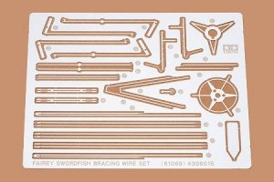 Tamiya 61069 Fairey Swordfish Etched Parts Photo Etched Bracing Wire