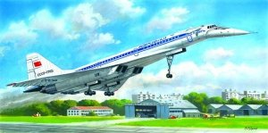 ICM 14402 Tupolev-144D Charger, Soviet Supersonic Passenger Aircraft 1/144
