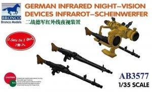 Bronco AB3577 GERMAN INFRARED NIGHT-VISION DEVICES INFRAROT-SCHEINWERFER 1/35