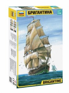 Zvezda 9011 Brigantine Two-mast sailing vessel  1/100