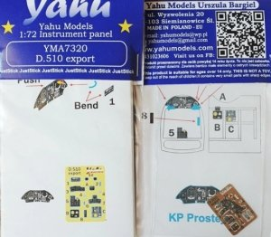 Yahu YMA7320 Dewoitine D.510 export 1/72