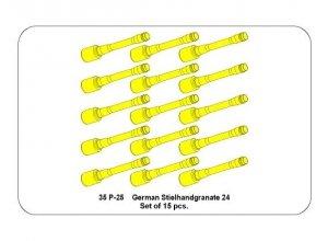 Aber 35P-25 Zestaw niemieckich granatów ręcznych