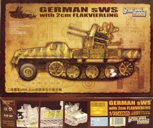 Great Wall Hobby L3525 German sWS with 2cm Flakvierling 1/35
