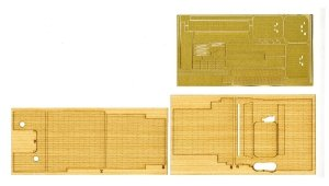 Fujimi 600635 Wood Deck Sticker for IJN Aircraft Carrier Kaga w/Name Plate 1/350