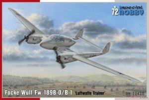 Special Hobby 72430 Focke Wulf Fw 189B-0/B-1 Luftwaffe Trainer 1/72