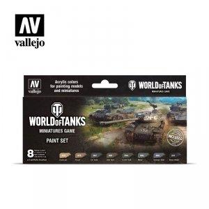 Vallejo 70245 World Of Tanks Miniatures Game Paint Set 8x17ml