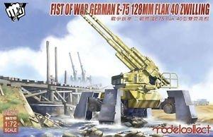 Modelcollect UA72117 Fist of War German E-75 128mm Flak 40 Zwilling 1/72
