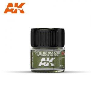 AK Interactive RC307 IJN M3 (N) NAKAJIMA INTERIOR GREEN 10ML