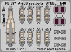 Eduard FE897 A-26B seatbelts STEEL REVELL 1/48