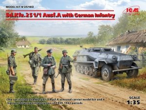 ICM 35103 Sd.Kfz.251/1 Ausf.A with German Infantry (1:35)