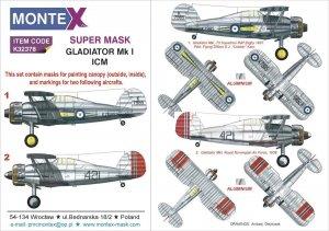 Montex K32378 Gladiator Mk I ICM 1/24