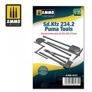 Ammo of Mig 8137 Sd.Kfz 234/2 Puma Tools 1/35