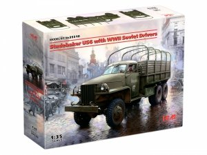 ICM 35510 DH.82 Studebaker US6 with WWII Soviet Drivers 1/35