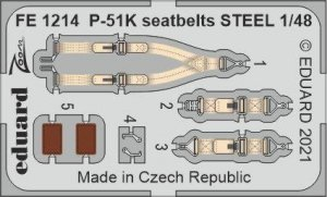 Eduard FE1214 P-51K seatbelts STEEL EDUARD 1/48