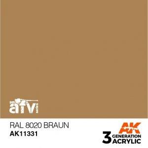 AK-Interactive AK 11331 RAL 8020 Braun 17ml