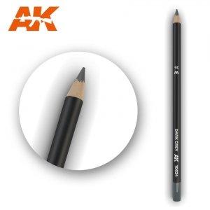 AK Interactive AK 10024 Watercolor Pencil DARK GREY