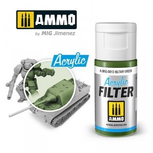 Ammo of Mig 0813 ACRYLIC FILTER Military Green 15 ml