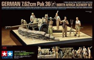 Tamiya 32408 German 7.62cm Pak 36(r) - North Africa Scenery Set (1:35)