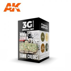 AK Interactive AK 11686 WWI GERMAN TANK COLORS 4x17 ml