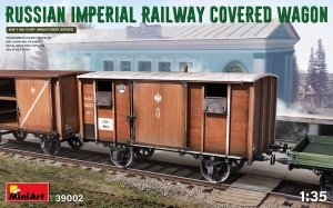 MiniArt 39002 RUSSIAN IMPERIAL RAILWAY COVERED WAGON 1/35