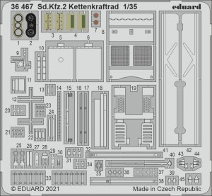 Eduard 36467 Sd.Kfz.2 Kettenkraftrad TAMIYA 1/35