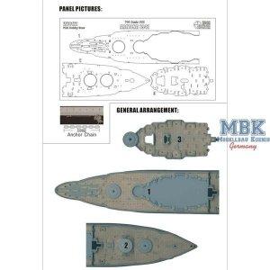 Wood Hunter W70172 Holzdeck für USS Arizona 1941 (Hobby Boss 83401) 1/700