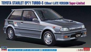 Hasegawa 20473 Toyota Starlet EP71 Turbo-S (3 Door) Late Version Super-Limitede 1/24