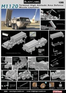 Dragon 3605 M1120 Terminal High Altitude Area Defense Missile Launcher 1/35