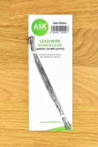 ASK T0054 Lead Wire  Round Ø 0,6 mm x 120 mm (20 pcs)