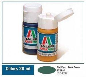 Italeri 4729 FLAT EURO I DARK GREEN 20ml