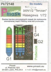 P-Mask PK72148 Nakajima B6N1/2 Tenzan (Hasegawa) 1/72