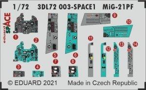 Eduard 3DL72003 MiG-21PF SPACE 1/72