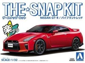 Aoshima 05825 The Snap Kit Nissan GT-R / Vibrant Red 1/32