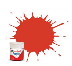 Humbrol AB0174 174 Signal Red Satin Acrylic Paint 14ml