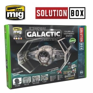 AMMO of Mig Jimenez 7720 HOW TO PAINT IMPERIAL GALACTIC FIGHTERS SOLUTION BOX