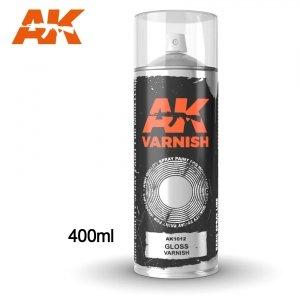 AK Interactive AK 1012 GLOSS VARNISH SPRAY 400ml
