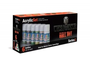 Italeri  446AP World of Tanks Roll Out Acrylic Set Series 1 Set 6x20ml