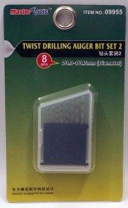 Trumpeter 09955 Twist Drilling Auger Bit Set 2 (1.0-1.7mm Diameter)
