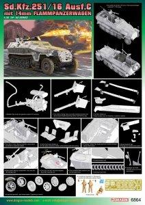 Dragon 6864 Sd.Kfz.251/16 Ausf.C mit 14mm Flammpanzerwagen 1/35