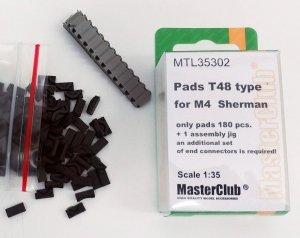 MasterClub MTL-35302 Pads T48 type for M4 Sherman 1:35